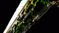 Low angle shot of buildings in the Gothic quarter of Barcelona video