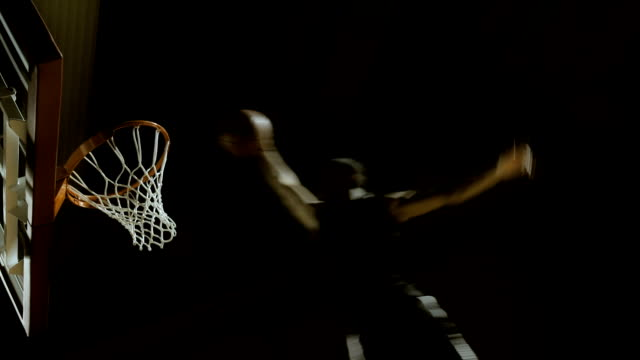 Low Angle Shot Of Slam Dunk Action video