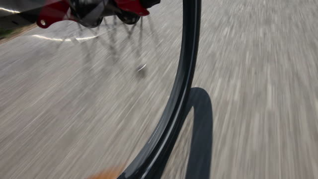 HD: Low angle view from mountain bike video