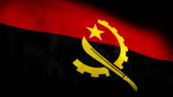 Low Angle view of National flag of angola background video