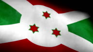 Low Angle view of National flag of Burundi background video