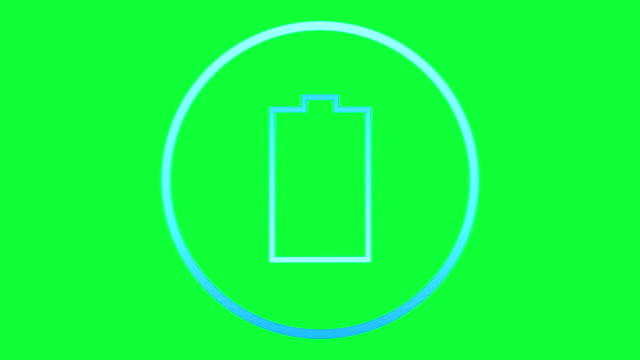 Low battery icon video