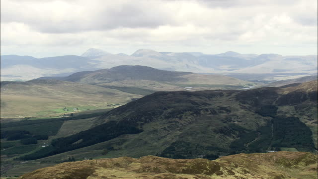 Low Flight Over Hill Top  - Aerial View - Ulster, Donegal, Ireland video