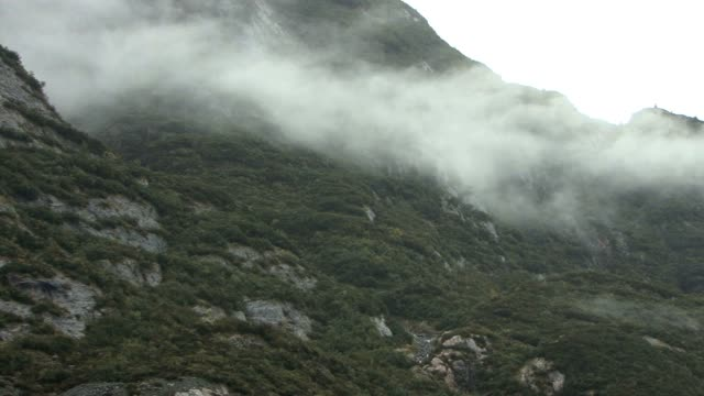 Low lying cloud on the mountains video