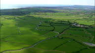 Low Lying Landscape  - Aerial View - England,  East Sussex,  Wealden District,  United Kingdom video