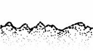 LANDSCAPE - low mountains, pure black dots (LOOP) video