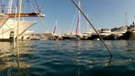 low point of view of yachts in Monaco video