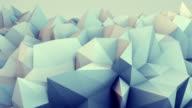 Low poly relief 3D render loop video