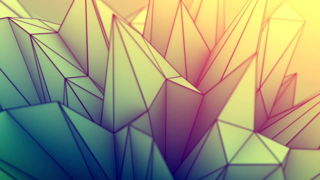Low poly toned surface seamless loop futuristic 3D render video
