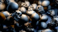 Low View, Lots of Skulls filling the Screen video