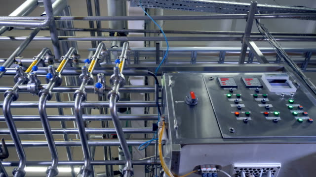 A low view on factory control unit. video