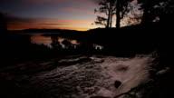 Lower Eagle Falls, Lake Tahoe, dawn video