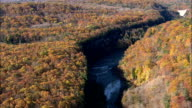 Lower Falls - Aerial View - New York,  Livingston County,  United States video