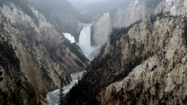 Lower Falls in Yellowstone National Park, Wyoming video