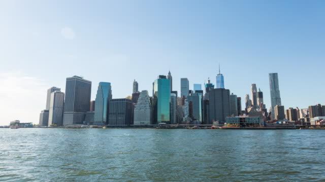 Lower Manhattan Skyline New York City Day Timelapse video