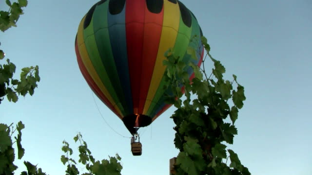 Low-Flying Hot Air Balloon with Flame video