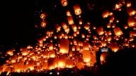 Loy Krathong and Yi Peng Festival, Chiangmai, Thailand. video