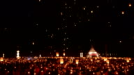 Loy Kratong Festival And Lantern Lift Off Time Lapse video