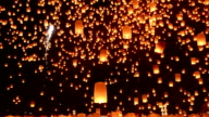 Loy Kratong Festival And Lantern Lift Off video
