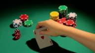 Lucky man has pocket aces, good opportunity to win big video