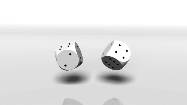 Lucky thrown dice. video