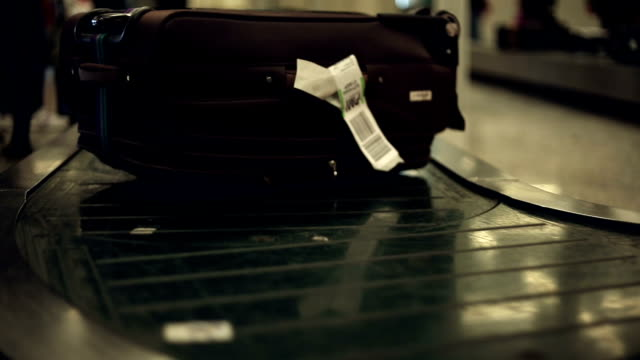 Luggage at the airport video