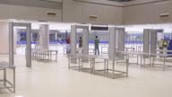 Luggage check on airport x-ray device video