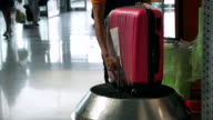 Luggage wrapping with passenger background video