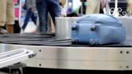 luggages at airport video