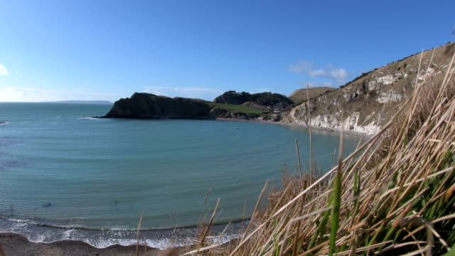 Lulworth Cove in Dorset - Cliff Side video