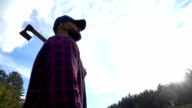 Lumberjack with axe video