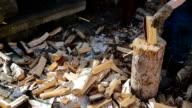 Lumberman Working Wood video