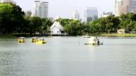 Lumpini park at bangkok video