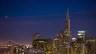 Lunar Eclipse Rising over San Francisco video