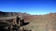 Lunar landscape in Teide National Park, Tenerife, Canary Islands, Spain video