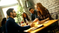 Lunch break at a fine restaurant video
