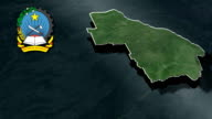 Lunda Norte with Coat of arms animation map video