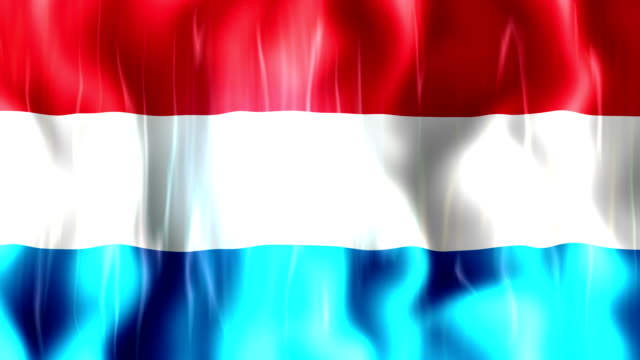 Luxembourg Flag Animation video