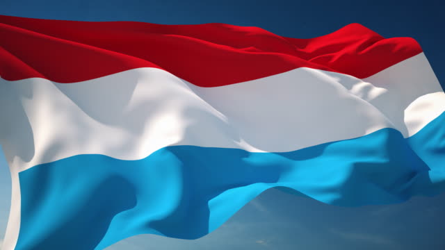 4K Luxembourg Flag - Loopable video
