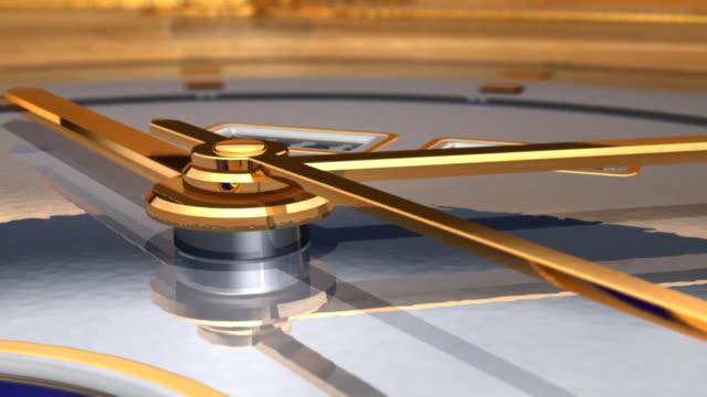 Luxurious gold watch video