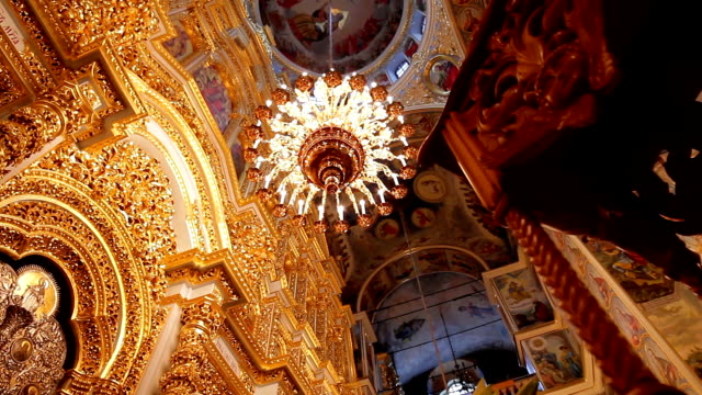 Luxurious interior of  cathedral. video