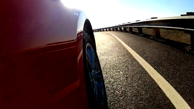 Luxury Car Driving Towards Golden Gate Bridge video