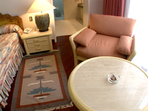 Luxury hotel bedroom video