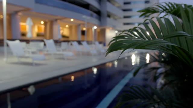 Luxury Hotel Pool at Night video