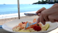 Luxury lunch at beach video