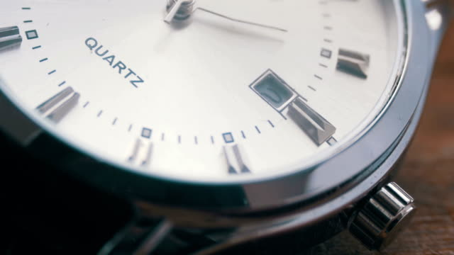 Luxury men's watch Second hand close up video
