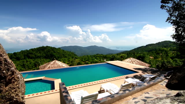 Luxury pool in the mountains video
