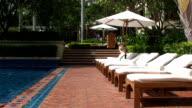 Luxury pool side video