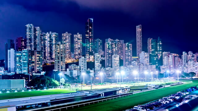 Luxury Residential Apartment Buidings and Horse Racing Course. HD video