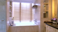 luxury sample bathroom interior and decoration,real time. video